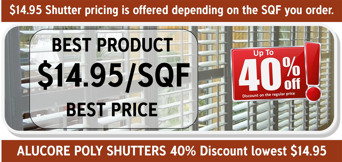 Gator Blinds orlando - SHUTTERS SPECIAL $14.95/SQF  orlando, window blinds, roller shades